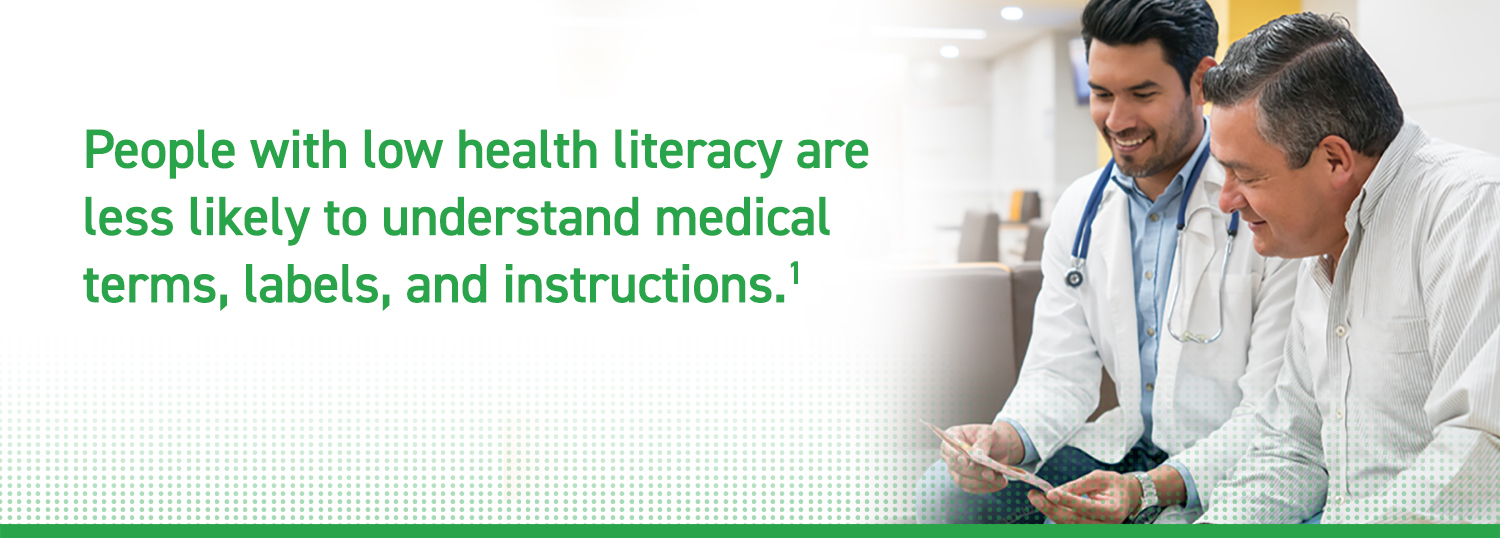 People with low health literacy are less likely to understand medical terms, labels, and instructions
